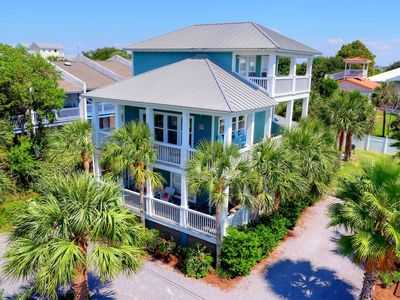 Photo for 4 BR all w/King beds/2 Master Suites, 4.5 baths, Private Pool & Yard, Gulf Views
