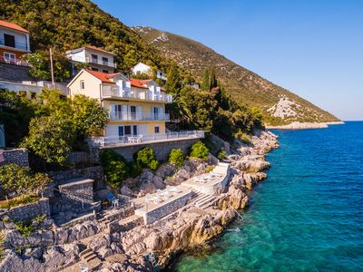 Photo for Waterfront Villa, Apartment 1 for 2-3 persons with direct sea access