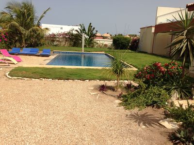 Photo for Saly Superb villa with private pool, 100 m beach, maid included
