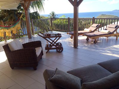 Photo for Charming villa Wi FI, large terrace Superb sea view and bay of Fort de France