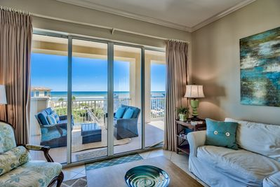 San Remo 409  - Beautiful gulf views from the living room