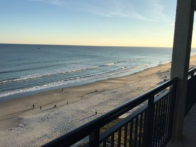 Beautiful Views of Sunrise & the Beach from our Balcony