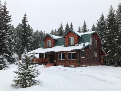Photo for KC Ranch : Charming and Cozy Log Cabin in Beautiful Whitefish Montana