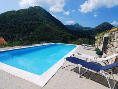 Photo for 3 mins from Argegno, 2 bedroom, 1 bath, shared pool, sleeps up to 6