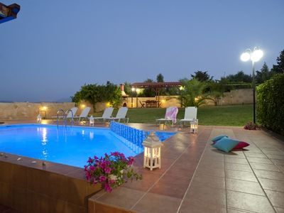 Photo for A modern villa with private pool and garden, 800m from the sea