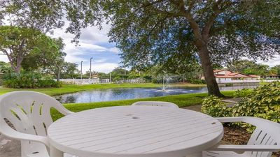 Patio overlooking Pond, Clubhouse , Pool, Tennis, Playground