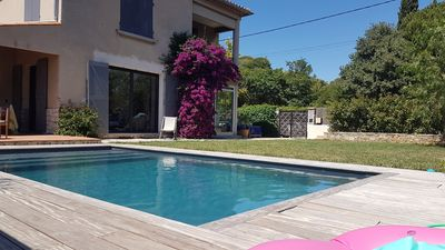 Photo for Comfortable house with secure pool