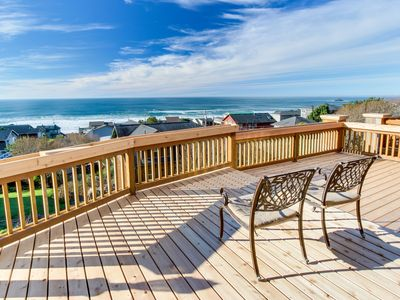 Photo for Luxurious dog-friendly home with hot tub and incredible ocean views