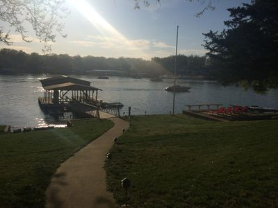 Photo for Relaxing Lakefront, Covered Dock, Lakeside Deck, No-wake Cove