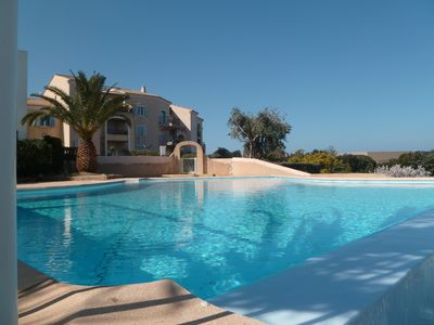 Photo for Ile Rousse apartment with pool in residence