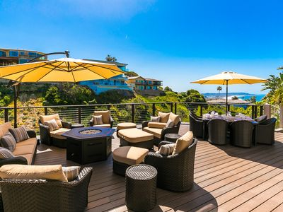 Photo for Gorgeous Home w/ Pool, Jacuzzi, Firepit & Ocean Views!