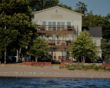 Photo for Large Lake Front property on sandy Sylvan Beach
