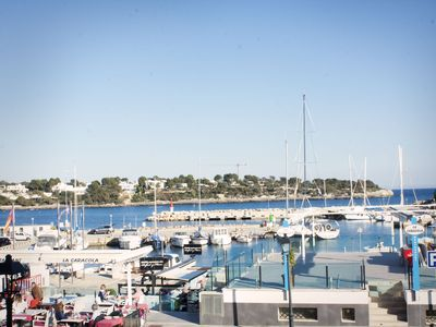 Photo for First line apartment with views to the port of Portopetro (Santanyí)