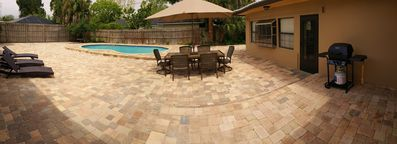 Large Backyard with over 3,500 SF of Pavers and a Great Pool!