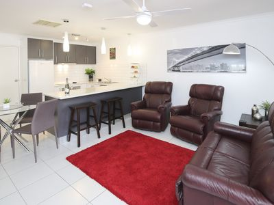 Photo for #2 BR Apartment,   spacious living area,  Central location to Plaza