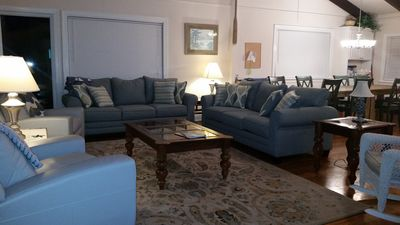 Spacious living room with plenty of comfy seating