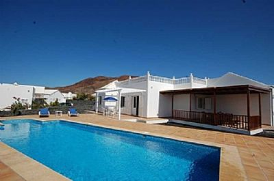 Photo for Villa With Private Heated Pool And Sea Views In Playa Real, Playa Blanca