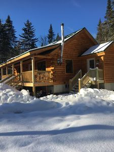Photo for Brand new log cabin on main ATV/snowmobile trail. Very private!