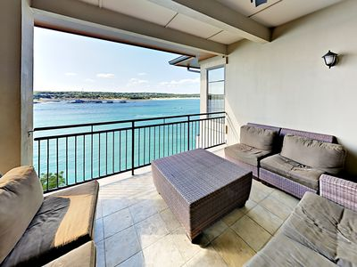 Photo for Expansive Lake Travis Views! All-Suite 3BR + Loft