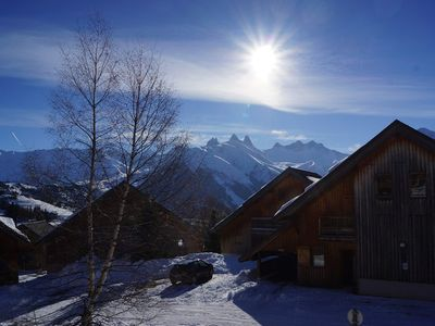 Photo for Apartment in chalet close to ski slopes and school