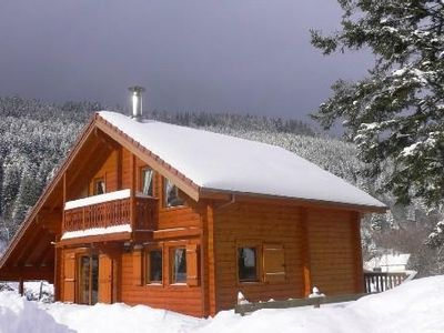 Photo for All-wood chalet, biological timber preservative, with Finnish sauna