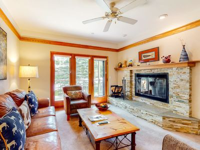 Photo for Ski-in/ski-out cozy condo w/ wood-burning fireplace & shared hot tubs and pool!