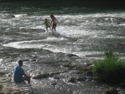 Take a dip 5 minutes away in the refreshing waters of Mopan River