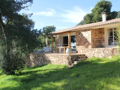 Photo for Villa 4 * sea view, 500 meters from Palombaggia beach, private access