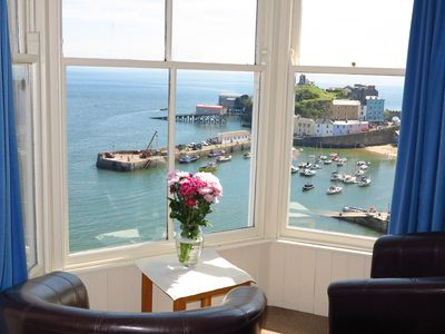Photo for Sea View Apartment Tenby, Pembrokeshire, Wales. Near Beach, Restaurants & Shops