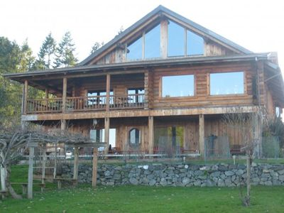 Photo for Beautiful log home overlooking the magnifcent Puget Sound.
