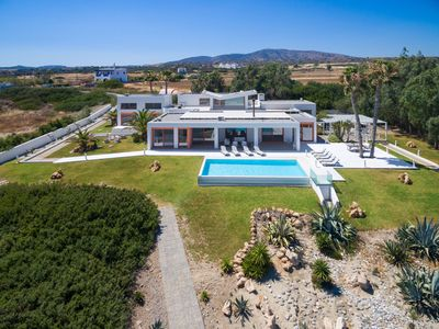 Photo for This 7-bedroom villa for up to 14 guests is located in Lachania / Lahania and has a private swimming