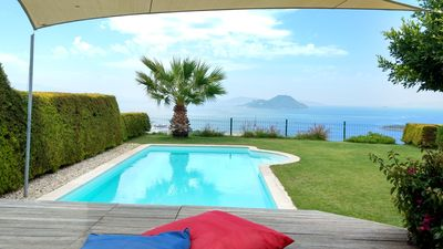 Photo for Dream house with fantastic panoramic sea views and private pool, Wifi