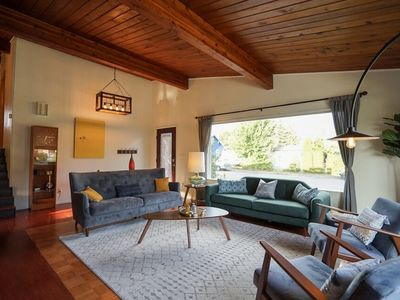 Photo for Mid-Century Mountain Getaway near river, hikes, 40 m to Seattle or Stevens Pass!