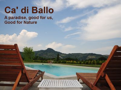 Photo for Ca di Ballo Villa with Swimming pool, Organic Vineyard, 50 miles from Florence.