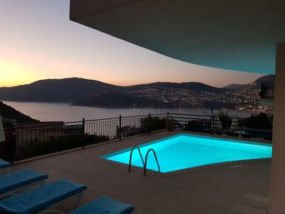 Photo for Private  Villa with Panoramic Views of Kalkan Bay