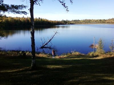 Photo for FAMILY LAKESIDE CABIN PRIVATE LAKE AND ACERAGE FISHING HIKING HUNTING AND NATURE