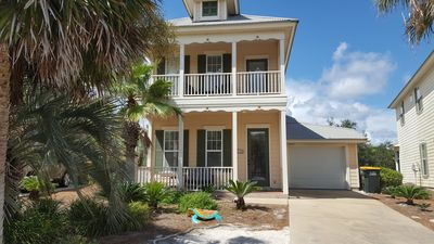 Photo for 200 Yds from Beach!  Swim/ Tennis/Gym/Golf Cart  Sleeps 10