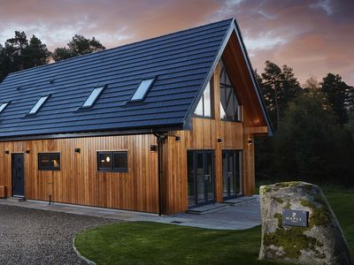 Photo for Maple Lodge - Luxury 4 bedroom lodge with hot tub and countryside views