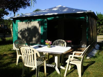 Photo for Camping La Rouvière Les Pins *** - Bungalow Toilé 3 Rooms 4 People