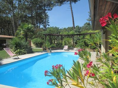 Photo for LACANAU OCEAN - Large house with private pool