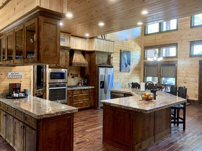 Photo for SPECIAL FALL SAVINGS- New Construction 2019-Secluded 4 BR\2Bath  Log Cabin