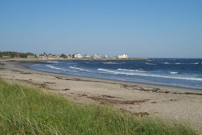 View from the public beach, looking towards the cottage's neighborhood.