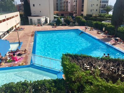 Photo for Cap d'Agde: Studio with access SWIMMING POOL & TENNIS located 350m from the beach