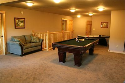 Game Room with Full Size Pool Table, Ping Pong Table, Air Hockey