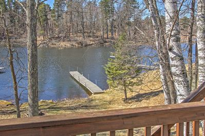 Dock your boat at the vacation rental property's private boat landing.