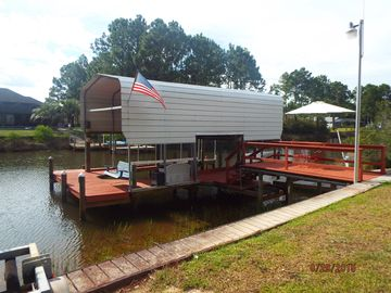 Waterfront ~3bdrm~ 2bath~ 25 Mins to P'Cola Beach ~ Fish from  Dock~Pets welcome