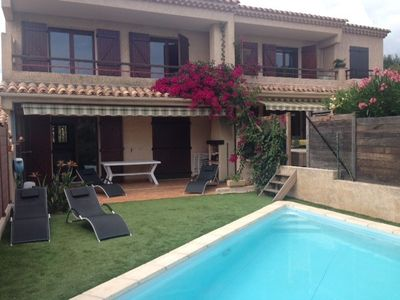 Photo for BEAUTIFUL DUPLEX AIR CONDITIONED SEMI-DETACHED HOUSE WITH PRIVATE POOL
