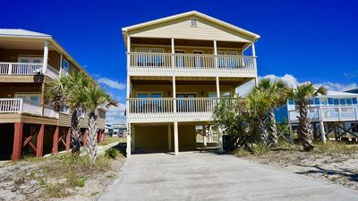 Photo for PRIVATE HOME, DIRECTLY ACROSS FROM BEACH & ACCESS, OPEN DOWNSTAIRS FLOOR PLAN - BEACHBALL PROPERTIES