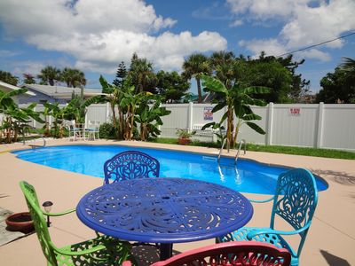 Photo for Ormond Oasis, PRIVATE RELAXING POOL home, 980 ft from beach, & John Anderson Dr.
