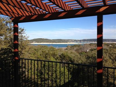 VIEW OF LAKE TRAVIS FROM BALCONY!!!